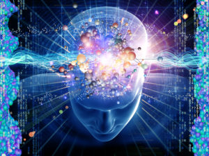 Blue brain collage image
